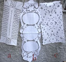 Lot of  3 vintage table runners