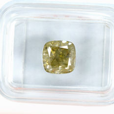 Diamond - 2.07ct Natural Fancy Yellowish Green