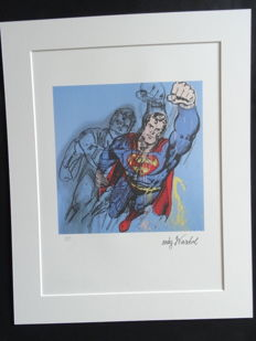 Superman By Andy Warhol (after) - Printed Signature And Numbered