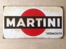 Enamel advertising sign MARTINI - ca. 1940s/50s