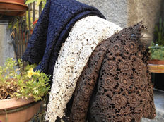 Lot of vintage guipure lace fabric