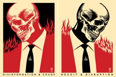 Shepard Fairey (OBEY) - Deceit & Disruption / Disinformation & Chaos