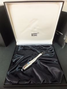 Rare Montblanc Boheme Solitaire Fountain Pen Sterling Silver 925 - Retractable 18k White Gold 4810 M nib