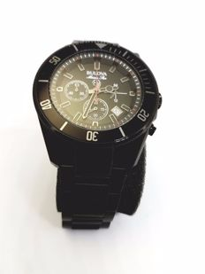 Bulova Marine Star Chronograph  98B231 black case dial and bracelet gent wristwatch