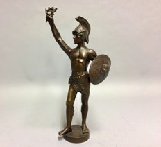 Bronze sculpture of a Roman warrior - signed Löwenich - circa 1920