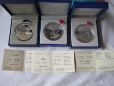 France – 0.25 Euro and 20 Euros 2003/2006 in cases (3 coins) – silver.