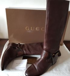 Gucci Caligola/Betis Calf Model Low-Heel Boots