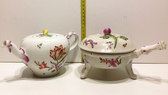 Old Royal Vienna Floral Coffee Pot and covered serving plate