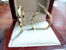 Pair of hoop earrings in 18 kt gold - 21 mm