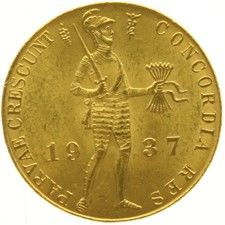 The Netherlands - Ducat 1937 Wilhelmina - Gold