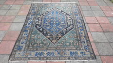 Old Very Beautiful Hand-knotted Persian - Hamadan 208cm x 145cm  No reserve Price! Act fast!