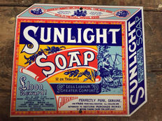 Enamel sign sunlight soap 1960 mint condition