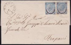 Italy, 1865-1877 - Two interesting used letters, examples of postal fraud
