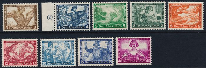 """German Empire 1933 - emergency aid, Wagner series, perforated 14: 13"""" – Michel 499/507A"""