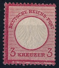 German Empire/Reich - 1872 - 3 Kreuzer pink, small breast plate, Michel 9