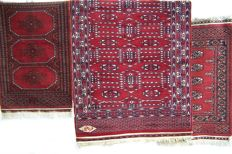 Persian Hand Knotted Karachi Signed Rugs, 4pcs carpets - First half of the 20th century
