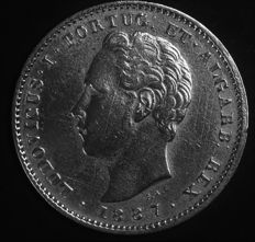 Portugal – 200 Reis in SILVER – Luís I – 1887 – Lisbon - AG: 11.18 – UNC