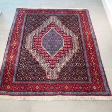Magnificent Senneh Persian carpet - 140 x 124 cm - very good condition - with certificate
