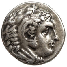 Macadonia - ALEXANDER III the Great (336-323 BC) AR drachma, SARDIS, torch