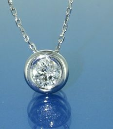 Solitar pendant with 1 brilliant cut diamond of 0.30 ct - no reserve price