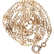 18 kt - Yellow gold link necklace - length: 46 cm