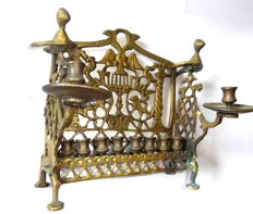 Chanukah Menorah from Russia, late 19th century