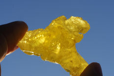 Translucent Colourful Sharp Lemon Yellow Sulfur Crystal  -  4,5 x 3 x 3 cm - 24 gm