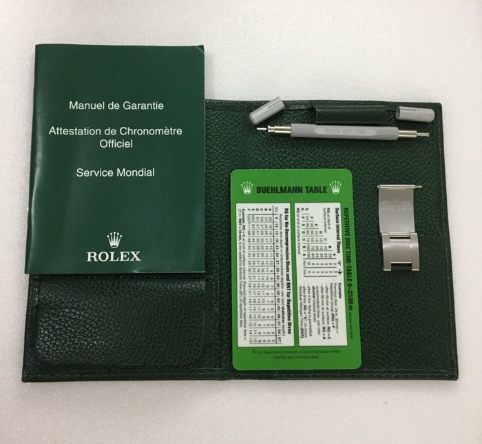 Authentic Rolex Sea-Dweller 16600 Tool Kit - Complete Set 100.25.34 - Unused --Project number:100