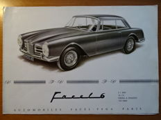 "1963 - FACEL-VEGA ""Facel 6"" Coupé & Cabriolet - 2,9 BMC 6 cylinder engine - Rare original sales brochure"