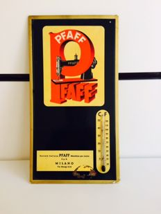 PFAFF Germany sewing machines advertising thermometer original vintage
