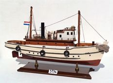 - Wooden model boat - entirely assembled by hand - the Netherlands