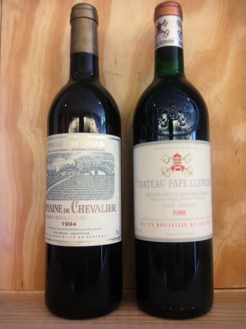 1988 Chateau Pape Clement, Grand Cru Classe de Graves & 1994 Domaine de Chevalier Blanc, Grand Cru Classe de Graves - 2 bottles