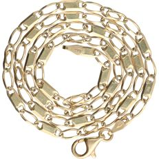 14 kt - Yellow gold, fantasy curb link necklace - Length: 45 cm