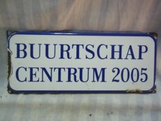 Enamel sign from Den Haag of the Buurtschap 2005