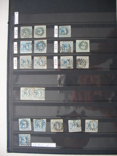 Bavaria - postage stamp collection in 2 stock albums