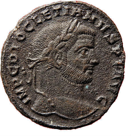 Roman Empire -  Diocletian (284-305 A.D.) bronze large follis (9,14 g. 31 mm.) Siscia mint (295 A.D.) GENIO POP-VLI ROMANI, B /* SIS.