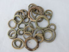 Celts – Collection of bronze Celtic ring currency – Central Europe – 1st/2nd century B.C.