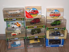 Corgi - Scale 1/43 - Lot with 12 Different Cars Minibuses