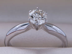 Diamond solitaire ring with 0.47 ct brilliant cut diamond – SI2 with H colour *** No reserve price ***