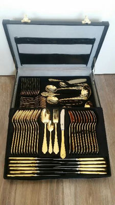 SBS Solingen 23/24 k gold plated - 70 piece cutlery set