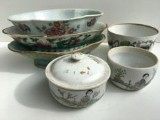 Six dishes/bowls - late 19th and Republic period (1911-1949)