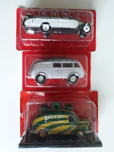 Altaya - Scale 1/43 - Set of 3 models: Citroen T23RU Chaissaing Bus 1947 & Renault AGP85 Saharien Bus 1938 & Hotchkiss PL20 'Perrier'