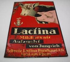 "Original metal sign "" Lactina""Swisse - 1930"
