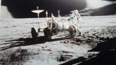 Two super slides of the Moon rover