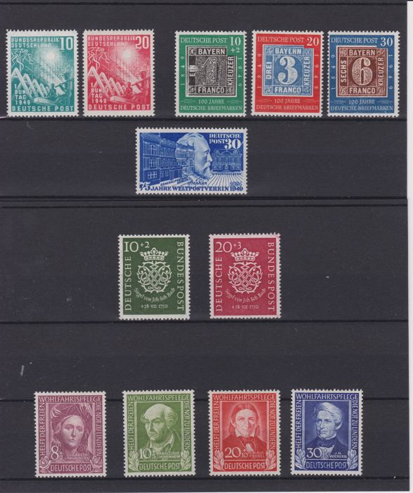 Federal Republic of Germany - complete collection of years 1949/1950 - MNH