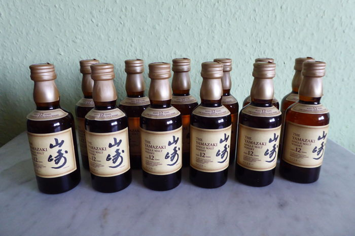 12 bottles (mini):  Yamazaki 12 years old : 12x 50ml