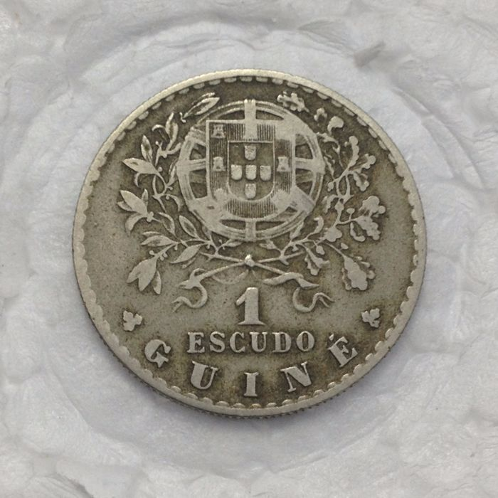 Portugal – Ex-Colony of Guiné – 1 Escudo – 1933 – Alpaca – Above average