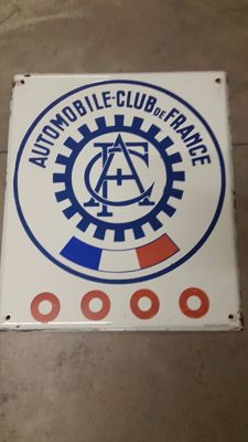 """Automobile Club de France"" 1980s sign"