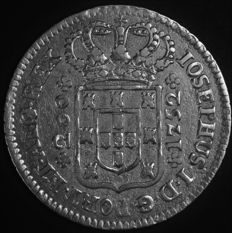 Portugal -- 12 Vinténs in SILVER '5-arch low crown' -- D. José I -- 1752 -- Lisbon – AG: 27.01 -- rare condition