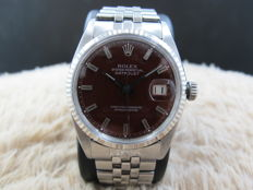 "1967 ROLEX DATEJUST 1601 SS WITH GLOSSY ""STELLA"" OXBLOOD DIAL"